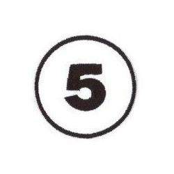 Ecusson Numéro de course 5