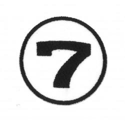 Ecusson Numéro de course 7