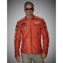 Veste Grand Prix Gulf cuir...