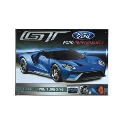 Plaque tôle Ford GT 40