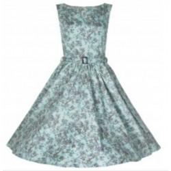 Robe Audrey Vert pâle Fleuri